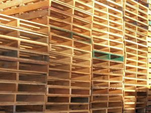 Used Standard Pallets on display in our Sydney yard